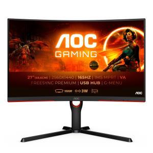 Curved Monitor - CQ27G3SU/BK -27in - 2560x1440 (WQHD) - 1ms 165Hz